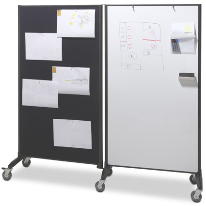 Mobile Whiteboard And Pinboard Screen