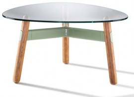 Eucalypt Frame - Walnut Legs - 800mm Black Tinted Glass Coffee Table