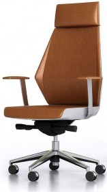 evolution chair brown front