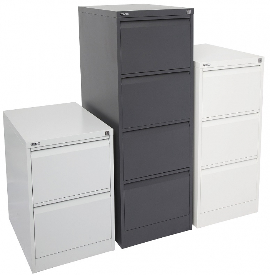 Deluxe Four Drawer Filing Cabinet
