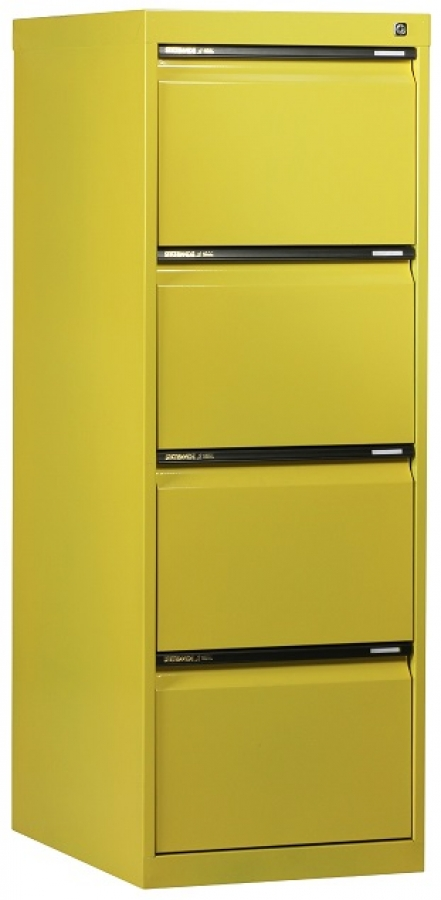 Statewide 4 Drawer Filing Cabinet (Yellow)